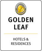 Golden Leaf Hotels & Residences represented by HoSeCo Sales & Marketing Services Logo