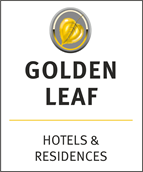 Golden Leaf Hotels & Residences represented by HoSeCo Sales & Marketing Services (Deutschland) Ltd. Logo