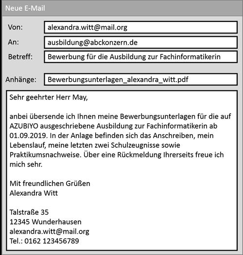 Muster Tipps Fur Die E Mail Bewerbung Azubiyo