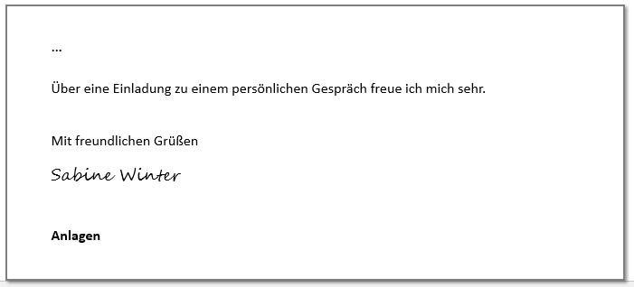E Mail Bewerbung Unterschreiben Karriere Anders
